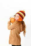 Little girl with pumpkin isolated on white background Royalty Free Stock Images