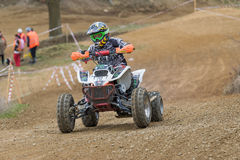 Little girl in the quad race Stock Images