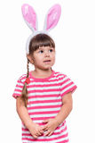 Little girl with rabbit ears Stock Photography