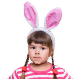 Little girl with rabbit ears Royalty Free Stock Images