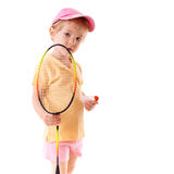 Little girl with racket Royalty Free Stock Images