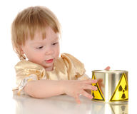 Little girl and radioactivity Stock Photo