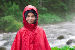 Little girl in raincoat Royalty Free Stock Photos