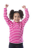 Little Girl Raising Her Arms Stock Images
