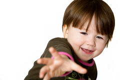 Little Girl Reaching Out Stock Photos