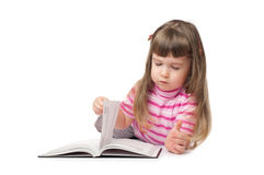Little girl read book Royalty Free Stock Images