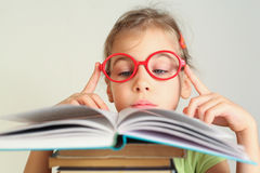 Little girl read book royalty free stock photography