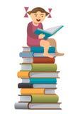 Little girl reader Stock Photography