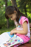 Little Girl Reading royalty free stock image