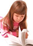 Little girl reading book Royalty Free Stock Photo