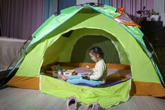 Camping indoor, bedroom tent