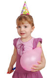 Little girl ready for birthday party Royalty Free Stock Photography