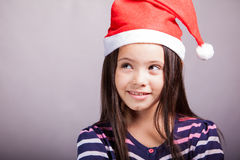 Little girl ready for Christmas Royalty Free Stock Photography