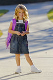 Little Girl Ready For School Stock Images