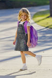 Little Girl Ready For School Stock Photos