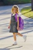 Little Girl Ready For School Stock Photos