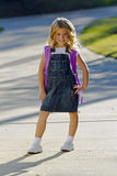 Little Girl Ready For School Stock Image