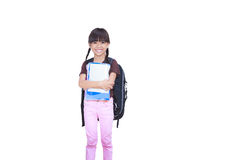 Little girl ready for school Royalty Free Stock Photo