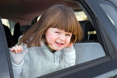 Little girl ready to leave for vacation Royalty Free Stock Photography