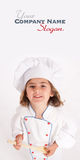 Little girl recipe Royalty Free Stock Photo
