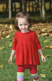 Little girl in red Royalty Free Stock Photography
