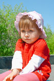 Little girl in red Royalty Free Stock Photo