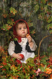 Little girl in a red cap Royalty Free Stock Images