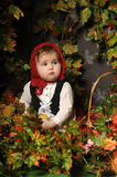 Little girl in a red cap Stock Photo