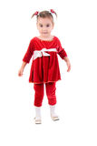 Little Girl In Red Dress. Royalty Free Stock Photography