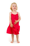 Little girl  in red dress Royalty Free Stock Photography
