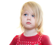 Little girl in red dress Stock Photography