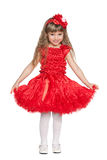 Little girl in a red dress Royalty Free Stock Photos