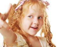 Little girl with red hair Stock Photo