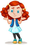 Little girl with red hair Royalty Free Stock Photo
