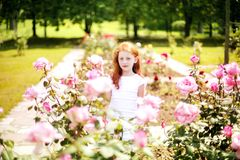 Spring child portrait royalty free stock photography