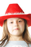 Little girl in red hat Stock Photography