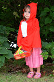 Little girl with Red Riding Hood costume Royalty Free Stock Photos