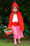 Little girl with Red Riding Hood costume Royalty Free Stock Photography