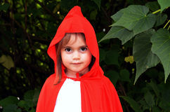 Little girl with Red Riding Hood costume Stock Photo