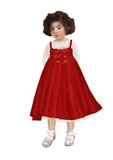 Little girl in red sundress Royalty Free Stock Photography