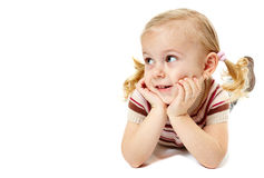 Little girl relaxing Royalty Free Stock Images