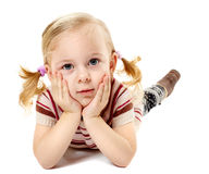 Little girl relaxing Stock Photos