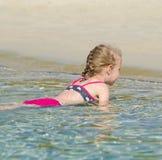Little girl relaxing Stock Photography