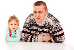 The little girl repeats for dad Stock Image
