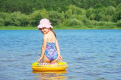 Little girl at river Royalty Free Stock Photo