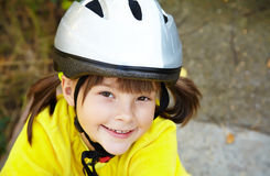 Little girl in roller skates at a park Royalty Free Stock Photography