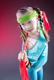 Little Fitness Girl Royalty Free Stock Photography