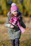Little girl  run in park. Stock Photography