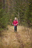 Little Girl running Royalty Free Stock Photo
