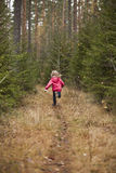 Little Girl running Royalty Free Stock Images